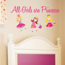 All Girls Are Princesses Wall Decal Wall Decal World