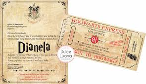 Invitaciones Harry Potter Con Sobre Original 15 Anos Eventos