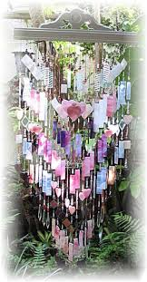 think pink stained glass wind chime