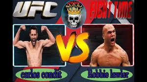 Carlos Condit VS Robbie Lawler ...