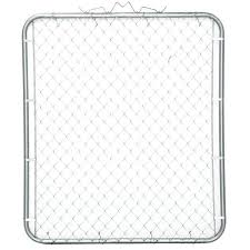 Yardgard 6 Ft W X 6 Ft H Galvanized Metal Adjustable Single Walk Through Chain Link Fence Gate 3283ad72 The Home Depot