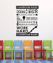 Classroom Rules Wall Decal Wall Stickers Wall Quote