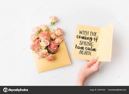 images pink flowers quotes hand holding paper spring quote