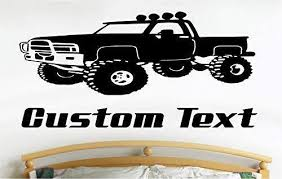 Monster Truck Wall Decals Stickers Graphics Man Cave Boys Room Decor
