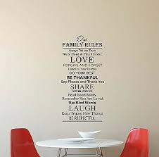 Family Rules Wall Decal House Quote Sign Gift Vinyl Sticker Poster Decor Art 623 29 50 Picclick