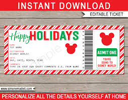 holiday walt disney world gift ticket