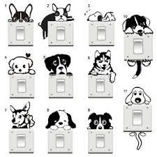 Dog Puppy Light Switch Vinyl Sticker Retriever German Shepherd Bulldog More Ebay