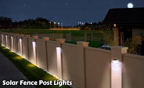 Amazon Com Othway Solar Fence Post Lights Wall Mount Decorative Deck Lighting White 4 Packs Home Improvement