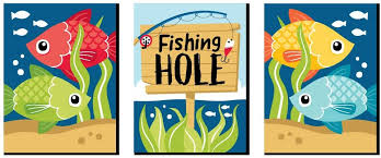 Amazon Com Big Dot Of Happiness Let S Go Fishing Fish Themed Nursery Wall Art And Kids Room Decor 7 5 X 10 Inches Set Of 3 Prints Arts Crafts Sewing