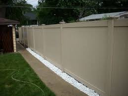 Photo Of A Tan Adobe Peru Pvc Vinyl Fence Designed And Installed By First Fence Vinyl Fence Fence Design Fence