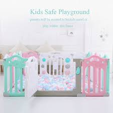 262428500 Baby Playpen Fence Indoor Palyground Park Kids Safe Guardrail Baby Game Crawling Fence Baby Play Yard 18 Pieces Set Mother Kids Baby Furniture
