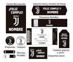 Kit Set Decoracion Fiesta Imprimible De Juventus 550 00 En