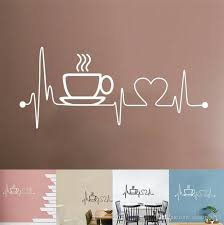 Removable Kitchen House Decoration Coffee Cup Wall Stickers Creative Vinyl Decal Mural Home Shop Decor Wall Sticker Wall Decals Large Wall Decals Murals From Eshop2019 1 91 Dhgate Com