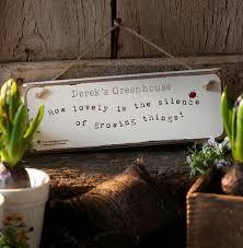 rhs gardening sign funky pigeon