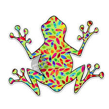 Hippie Tree Frog Decal Colorful Car Decal Vinyl Bumper Etsy Vinyl Bumper Stickers Cute Car Decals Bumper Stickers