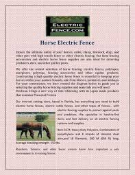 Horse Electric Fence By Electricfence Issuu