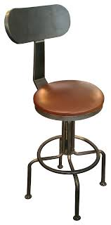 iron art industrial bar stool with back