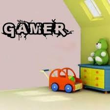 Gamer Words Vinyl Wall Decal Sticker Boys Bedroom Decor Xbox One Ps4 Controller Ebay