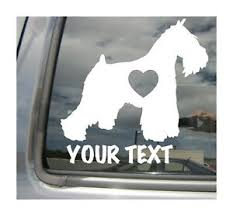 Miniature Schnauzer Dog Heart Love Custom Text Car Vinyl Decal Sticker 01122 Ebay