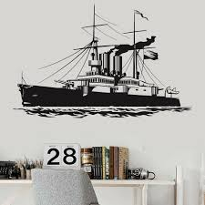 Naval Navigation Ship Wall Decal Navy War Military Ship Boys Room Decor Vinyl Wall Stickers Removable For Home Decoration Z445 Wall Stickers Aliexpress