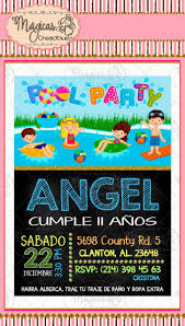 Invitacion Digital Cumpleanos Ninos Pool Party 105 00 En