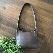 vintage 1990s brown leather coach ergo