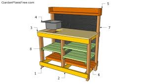 potting bench plans with sink free