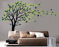 Amazon Com Large Tree Blowing In The Wind Tree Wall Decals Wall Sticker Vinyl Art Kids Rooms Teen Girls Boys Wallpaper Murals Sticker Wall Stickers Nursery Decor Nursery Decals Black And Green Right Baby