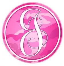 Letter J Pink Camo Monogram Tumbler Decal Tumbler Decals Advanced Graphics Inc