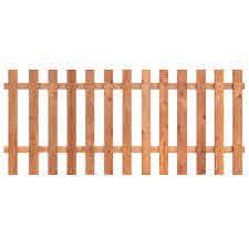 Spaced Picket Wood Fence Panels Wood Fencing The Home Depot