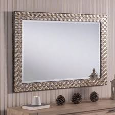 contemporary wall mirror textured