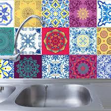 Ebern Designs Mandala 48 Piece Mosaic Tile Window Decal Set Wayfair