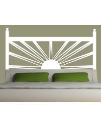 Sweet Savings On Sunrise Headboard Vinyl Wall Decal Eyval Decal Color White Size King
