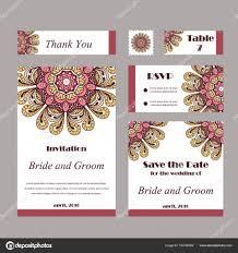 Invitation Graphic Card With Mandala Decorative Ornament For Card