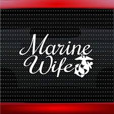 Amazon Com Noizy Graphics Marine Wife Military Soldier Car Sticker Truck Window Vinyl Decal Color White Automotive