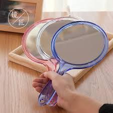 large handles simple makeup mirror