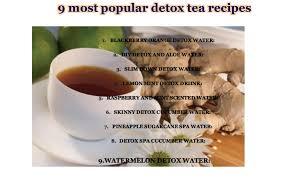 detox tea recipes detox drinks