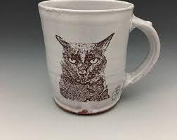 Cat Coffee Mug Decal Etsy
