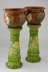 pair of flower pot pedestals