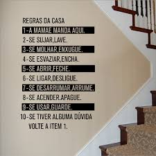 Creative Home Decoration Portuguese Language House Rules Wall Art Decal Removable Family Rule Wall Sticker Poster Az389 Wall Stickers Aliexpress