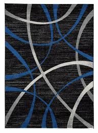 jenue black gray blue 8x10 rug