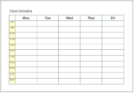 group fitness cl schedule template