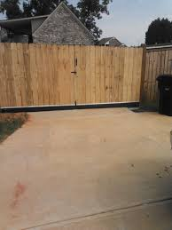 6 Wood Privacy Double Drive Gate Mcintyre Fencing