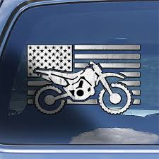Usa Dirt Bike Decal Sticker Dirt Bike Window Decal American Etsy
