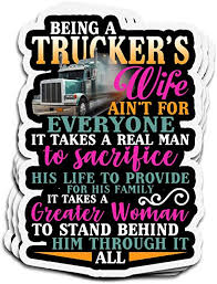 Amazon Com Lucky Star 3 Pcs Stickers Being A Trucker S Wife Ain T For Everyone Women 4 3 Inch Die Cut Wall Decals For Laptop Window Home Kitchen