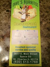 daves burritos restaurant st charles