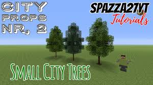 Minecraft Small City Tree Tutorial Youtube