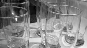 cloudy drinking glasses with vinegar