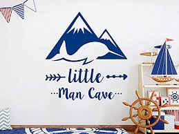 Amazon Com Narwhal Wall Decal Mountains Vinyl Stickers Little Man Cave Wall Decor Narwhal Wall Art Nursery Boys Bedroom Decal Ns1151 Handmade