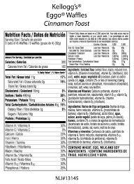 eggo waffles nutrition label